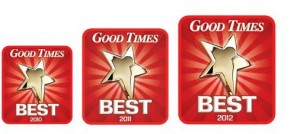 Good Times readers vote us Best Carpet Cleaners for the 3rd year straight.