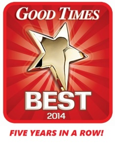 Voted Good Times Best Carpet Cleaning Service 5 Years in a Row