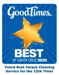 "Voted ""Best Carpet Cleaning"" service in Santa Cruz County"