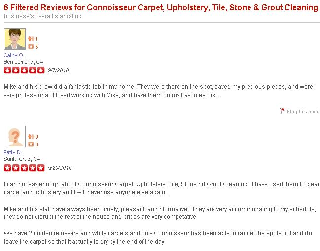 More great reviews from Yelpers