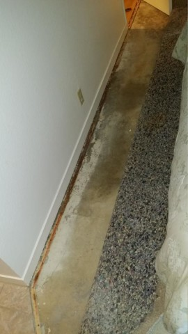 the pad and floor were drenched yet the customer could only detect a very small area of wetness